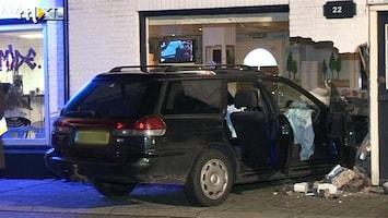 RTL Nieuws Tiener ramt pizzeria met moeders auto