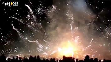 RTL Nieuws Spectaculair ongeluk met vuurwerkballon in Myanmar