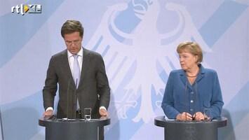 RTL Nieuws Rutte en Merkel: ruzie over Europa?