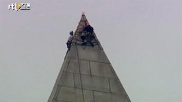 RTL Nieuws Klimmers inspecteren Washinton Monument