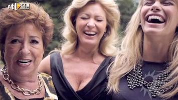 RTL Boulevard Nicolette van Dam met moeder en oma op de foto