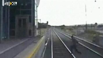 RTL Nieuws Nipt ontsnapt aan trein