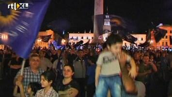 RTL Nieuws Oppositie Georgië viert alvast de overwinning