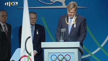 RTL Nieuws Koning neemt olympische gouden krans in ontvangst