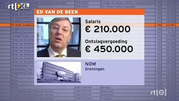 RTL Nieuws Ministerie blundert bij lijst topinkomens