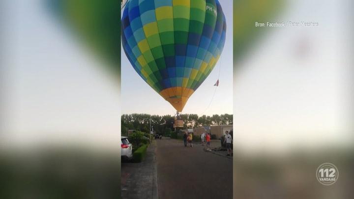 Luchtballon landt in woonwijk