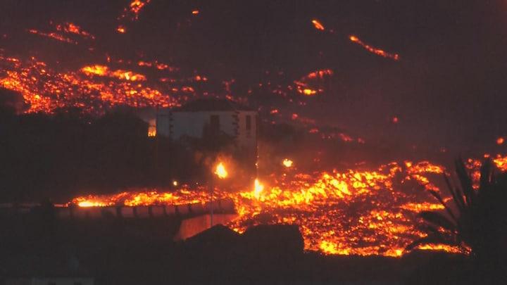 Lavastromen La Palma zetten verwoestende ramptocht voort