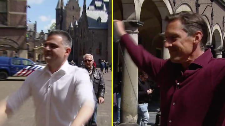 Dries Roelvink als personal trainer op het Binnenhof
