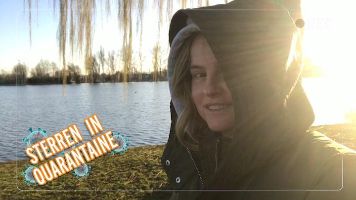 Sterren in Quarantaine: Fatima trekt erop uit met haar hondje