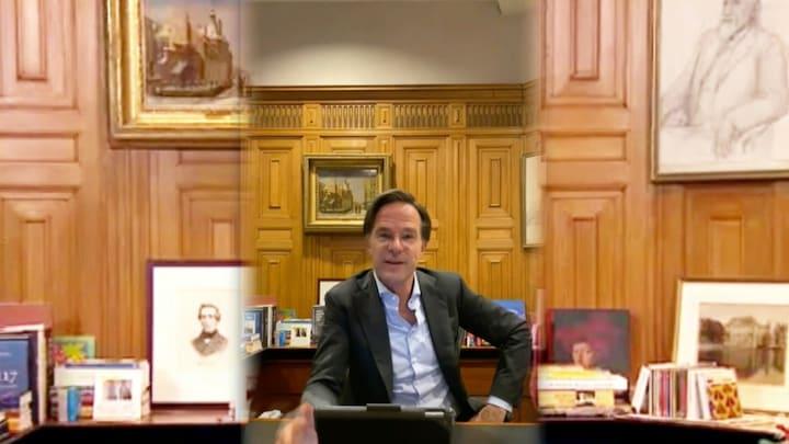 Mark Rutte spreekt jongeren toe over coronabeleid via social m...