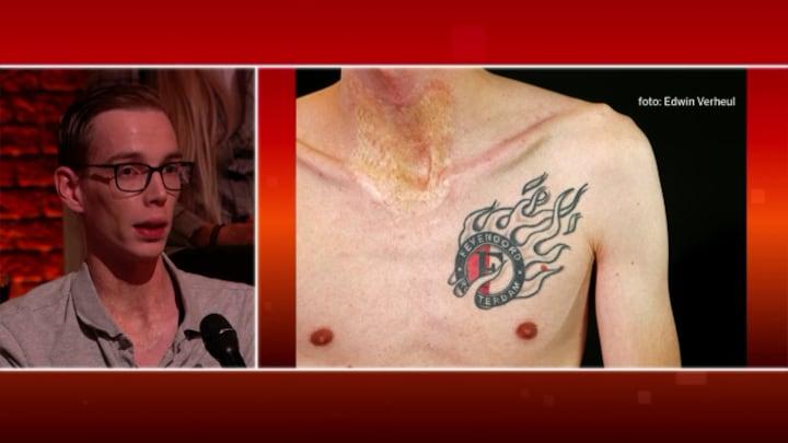 Het ontroerende verhaal achter een Feyenoord-tattoo