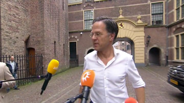 Mark Rutte en ministers reageren op ophef over koning