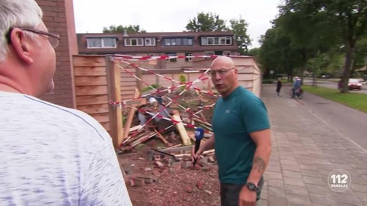 Auto belandt in tuin in Apeldoorn