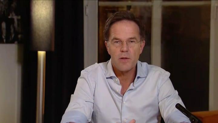 Minister President Mark Rutte vreest voor de feestdagen