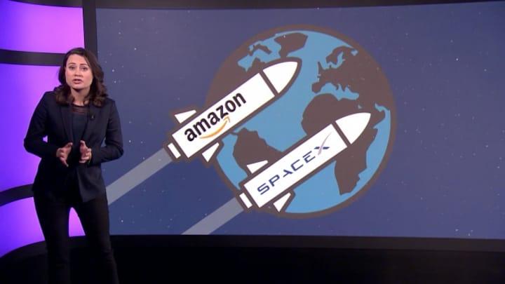 Space race: de wedstrijd om internet vanuit de ruimte