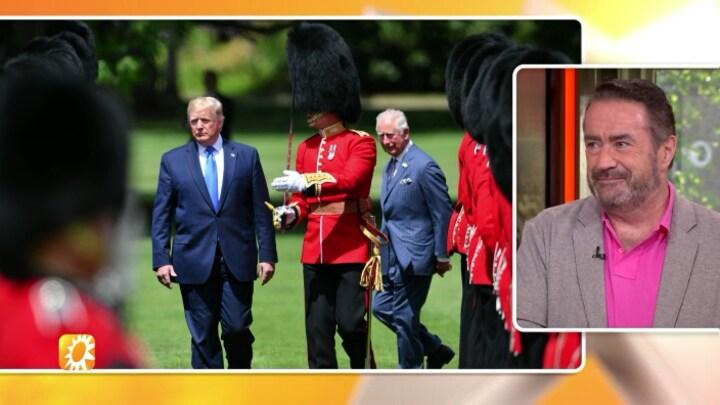 Trump brengt staatsbezoek aan Britse Royals
