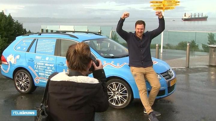 Met een elektrische auto de wereld rond: Wiebe deed het