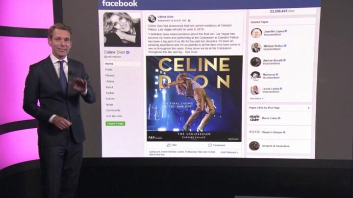 Celine Dion verdient ruim half miljard in Las Vegas