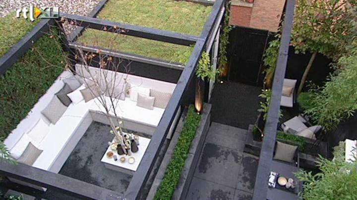 Gemist Eigen Huis Tuin Strakke Zwart Wit Lijnen