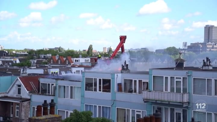 Forse woningbrand in Rotterdam