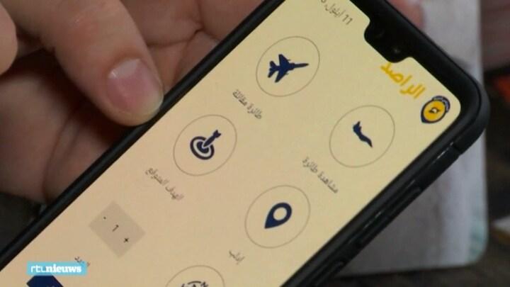 Syrische app waarschuwt voor bombardementen