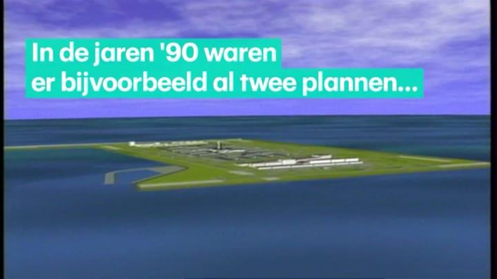 Schiphol in zee is geen nieuw idee