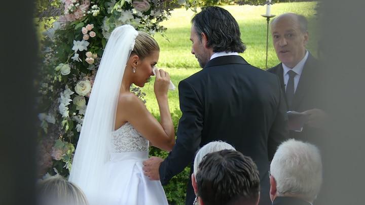Zie hier de traan van Sylvie Meis op haar droomhuwelijk