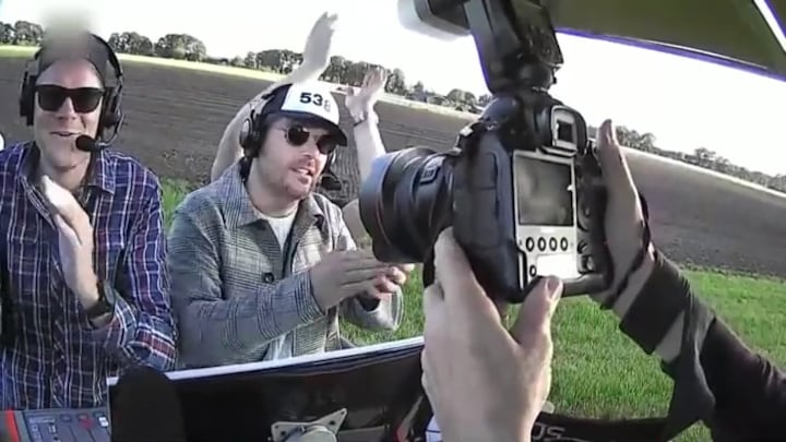 Coen en Sander in een radio-luchtballon: 'Een enorme stunt'