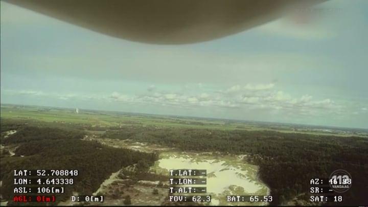 Drones ingezet tegen bosbranden in Hargen aan Zee