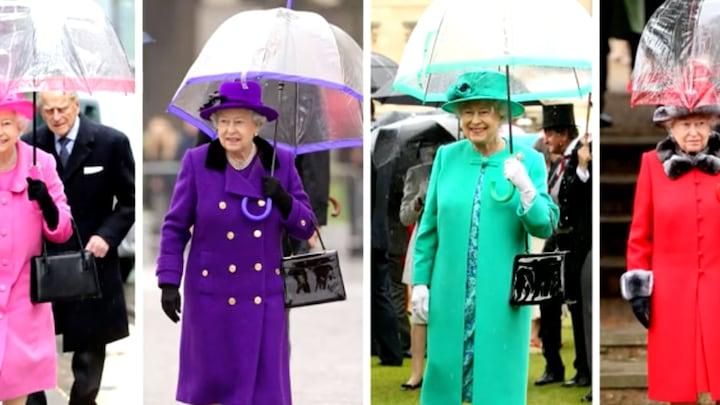 'Regenjas zie je zelden bij een Britse royal'