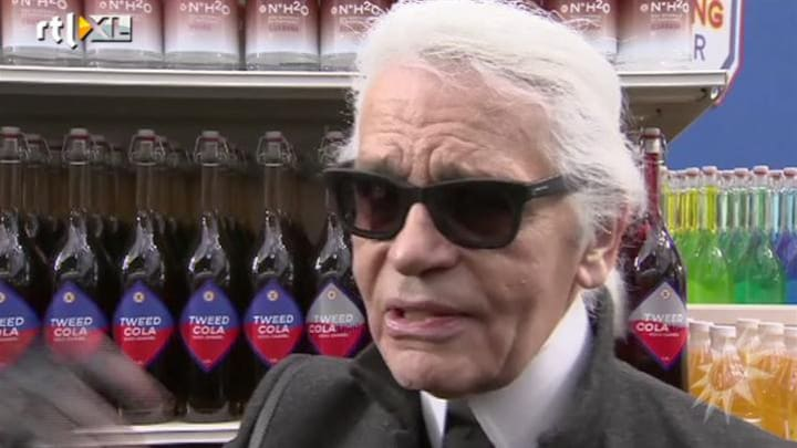 Karl Lagerfeld laat modellen paraderen in supermarkt