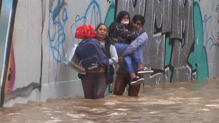 Noodweer teistert Griekenland: 'Water tot één meter hoog'