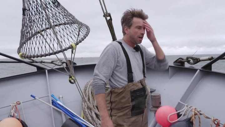 Loodzware dagen voor Rick Brandsteder op vissersboot