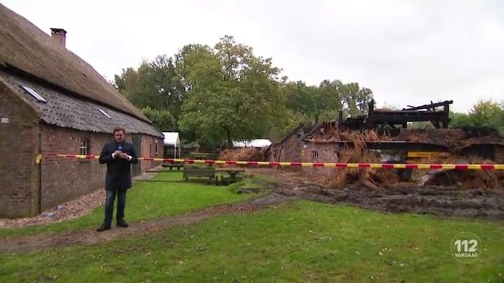 Brand verwoest museumboerderij in Heeswijk-Dinther