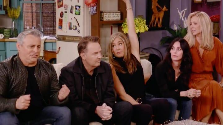 Fans maken zich zorgen om 'Chandler' in Friends Reünie