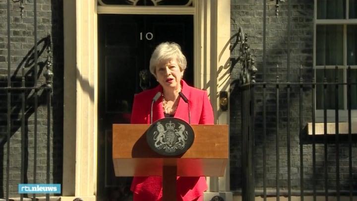 Theresa May vol emotie: 'Ik ben heel dankbaar'