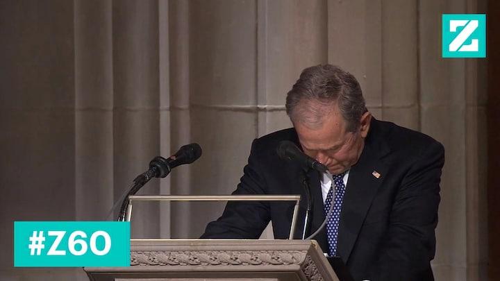George W. Bush vervult zware taak met verve