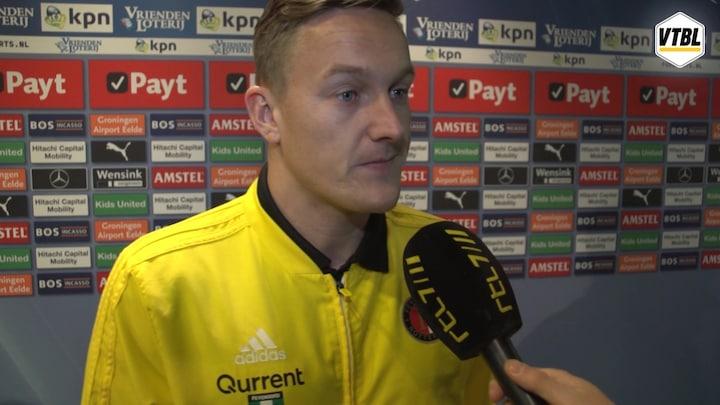 Toornstra: 'De slechtste wedstrijd die ik met Feyenoord heb gespeeld'
