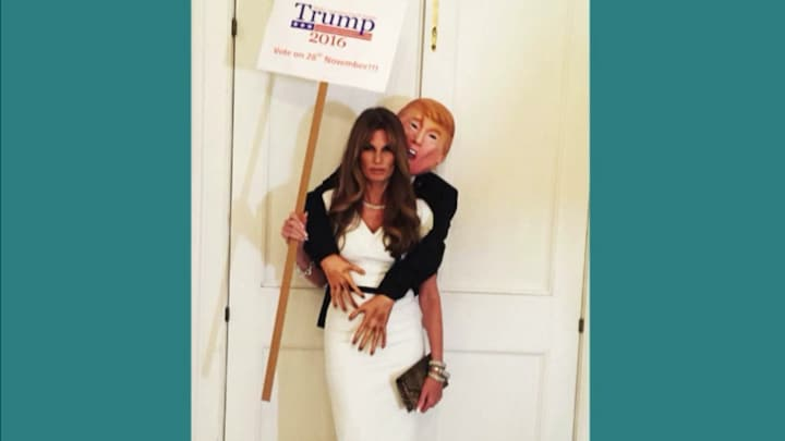 Afbeelding bij Z Today: For Sale: Trump Halloween kostuum (fragment)