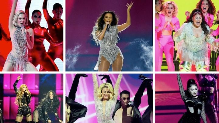 'Glitterjurkjes als rode draad door het songfestival'