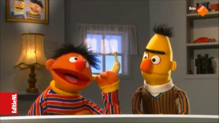 Bert & Ernie uit de kast