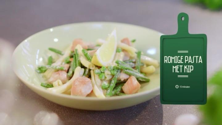 Afbeelding bij Uit Eigen Keuken: Romige pasta met kip (fragment)