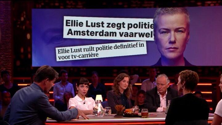 Ellie Lust vertrekt met tegenzin bij de politie