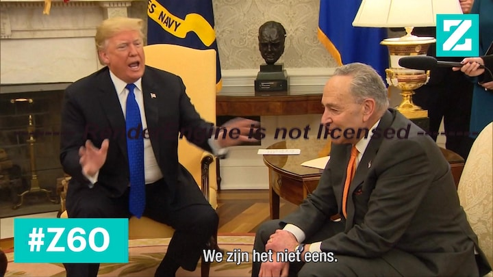 Live op TV: heftige discussie Trump vs. Democraten