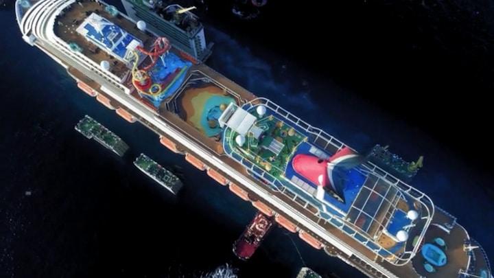 Zo tilt Boskalis een cruiseschip uit de oceaan
