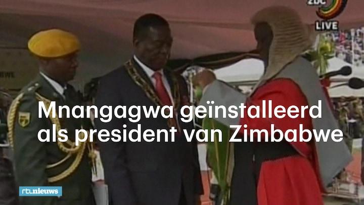 Mnangagwa nu officieël nieuwe president van Zimbabwe