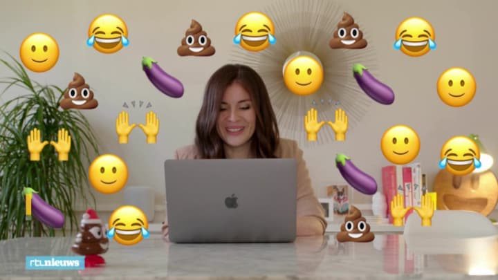 Angela ontwierp per ongeluk deze dubbelzinnige emoji 🍆